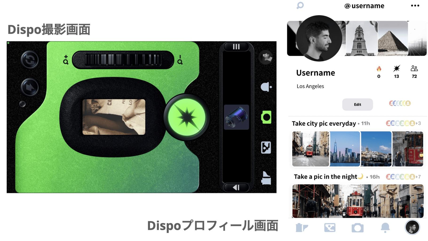 Dispo(ディスポ)操作画面